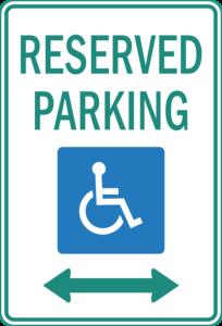 Parken Behindertenfahrdienst